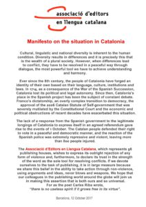 Manifesto on the situation in Catalonia