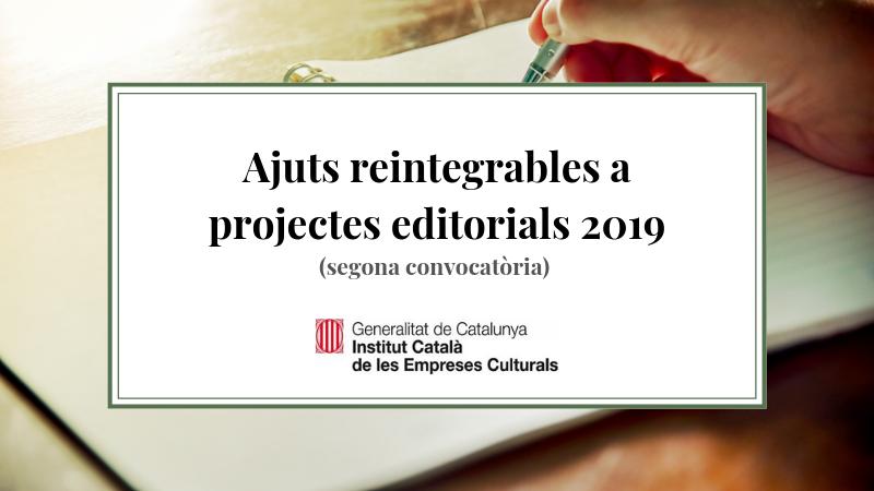Ajuts reintegrables 2019